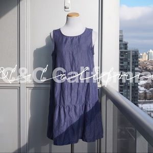 🌿 C&C California 100% Linen Summer Dress Size M
